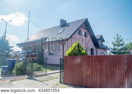 Gdansk, Poland - July 11, 2021: Sea Rescue Station, Part Of Maritime Search And Rescue Service.