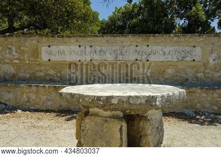 Cenacle Of San Francesco With The Inscription: Nil Jucundius Vidi Valle Mea Spoletana. Sacred Wood O