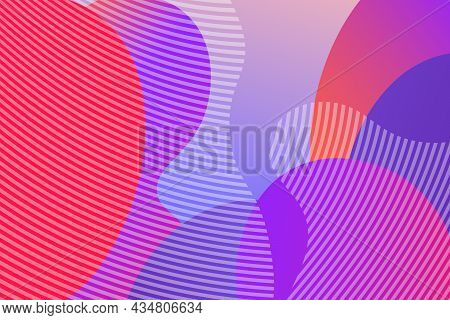 Abstract Background With Colorful Fluid Shapes, Gradient Waves, Geometric Lines, Dynamical Forms. De