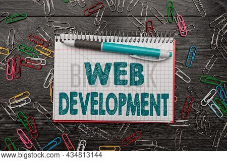 Writing Displaying Text Web Development. Business Showcase Dealing With Developing Websites For Host