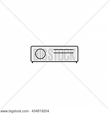 Projector Vector Thin Line Icon. Projector Hand Drawn Thin Line Icon.