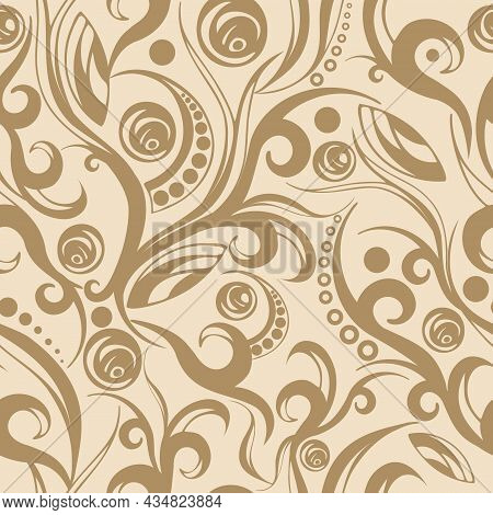 Seamless Lines, Stripes, Dots, Shapes And Brush Strokes Pattern. Abstract Painted Texture With Ink S
