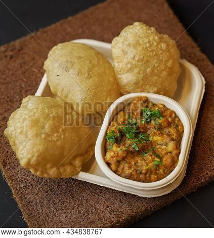 Chole Kulche Or Roadside Choley Kulcha Popular Indian Streetfood.