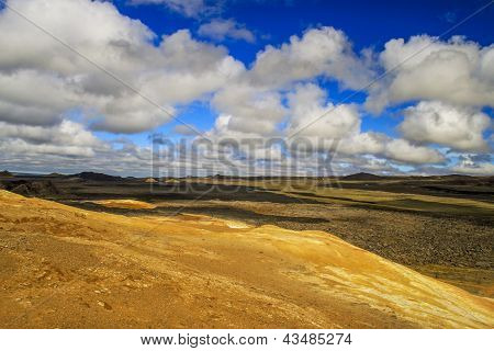 Beautiful Rugged Landscape With Clouds