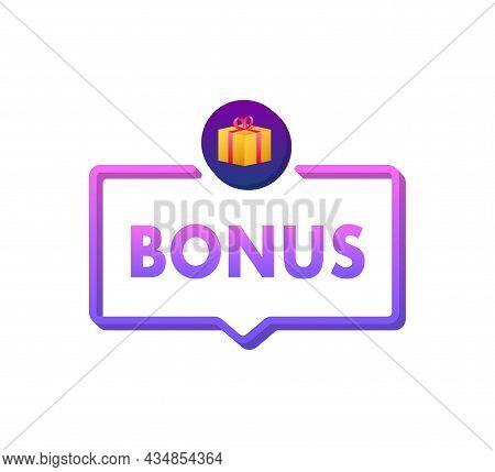 Bonus For Promotion Design. Surprise Banner. Discount Banner Promotion Template. Web Template For Ma