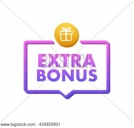 Extra Bonus For Promotion Design. Surprise Banner. Discount Banner Promotion Template. Web Template