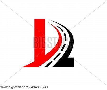 Transport Logo With L Letter Concept. L Letter Road Logo Design Template