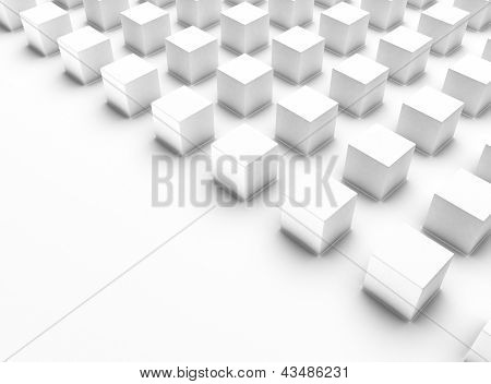 White Background With Cubes