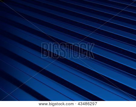 Bluel Metallic Background With Lines.