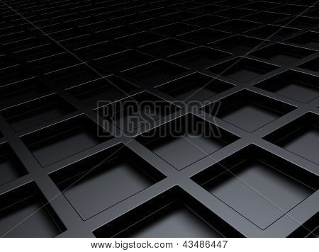Metallic Background With Squares