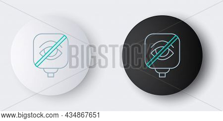 Line Blindness Icon Isolated On Grey Background. Blind Sign. Colorful Outline Concept. Vector