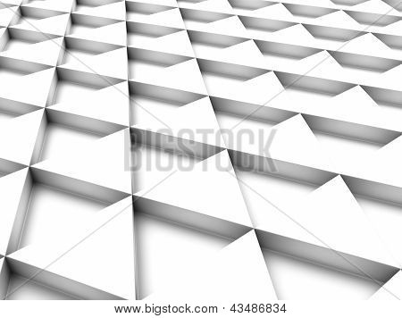 White Background With Triangles.