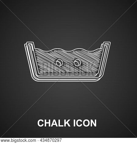 Chalk Washing Under 40 Degrees Celsius Icon Isolated On Black Background. Temperature Wash. Vector