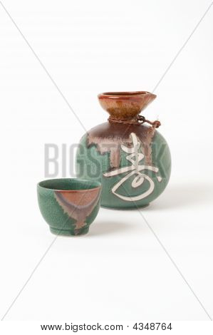 Sake Cup And Pitcher