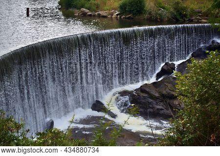 Dam At Sequoyah Lake Water Falls  Cashier Nc Lake