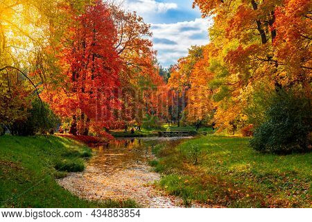 Catherine Park In Autumn Foliage, Pushkin (tsarskoe Selo), Saint Petersburg, Russia