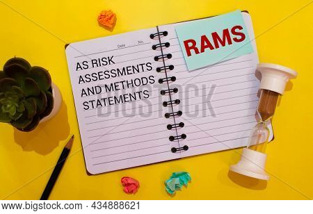 Concept Image Of Business Acronym Rams As Risk Assessments And Methods Statements Written On White P