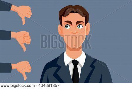 Angry Employees Dislike Their Boss Vector Cartoon