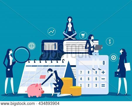 The Expert Business People And Financial Management. Business Vector Concept