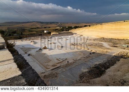 Tuff quarry near Matera, Basilicata, Italy
