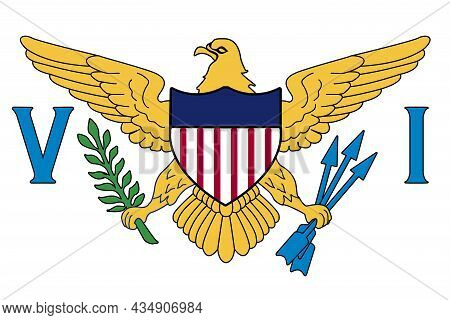 Flag Of The United States Of America Virgin Islands