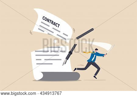 Contract Cancellation Or Agreement Terminated, Partnership Breaking Signed Business Deal, Code Of Co