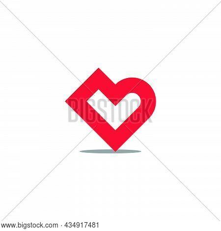 Letter B L Cute Love Kid Education Logo Vector