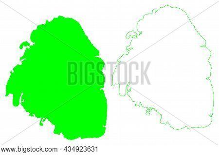 Cornwallis Island (canada, Nunavut Province, North America, Queen Elizabeth Islands) Map Vector Illu