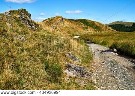 Scene From An Old Road That Is Part Of The Black Graded Syfydrin Mountain Biking Trail From The Nant