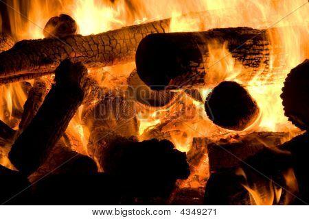Flames Of A Bonfire