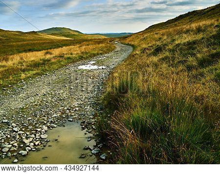 Scene From The Track That Is Part Of The Black Graded Syfydrin Mountain Biking Trail From The Nant Y
