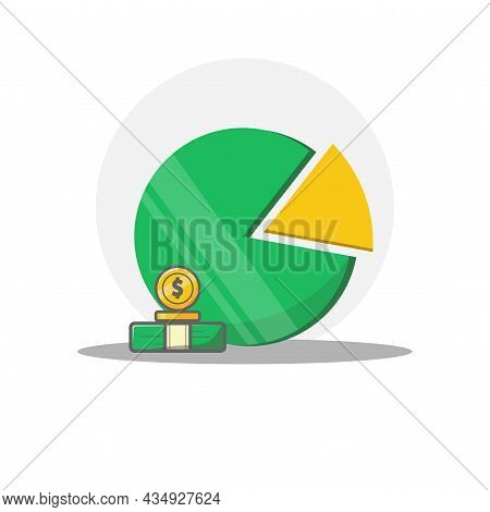 Pie Chart Clipart. Pie Chart Colorful Flat Vector Icon.
