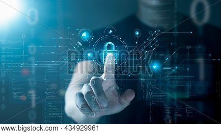 Cybersecurity Privacy Protection Concept. Information Security And Encryption, Secure Access To User