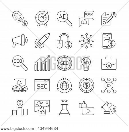 Set Of Marketing Icons. Graphic Elements For Online Stores. Price Increases, Discounts, Special Offe