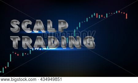 Abstract Futuristic Technology Background Of Scalp Trading With Stock Market And Chart Graph
