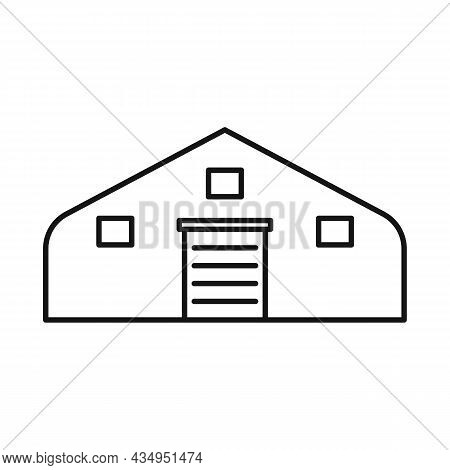 Isolated Object Of Hangar And Awning Sign. Graphic Of Hangar And Warehouse Stock Vector Illustration