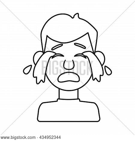 Isolated Object Of Guy And Cry Logo. Collection Of Guy And Tears Stock Vector Illustration.