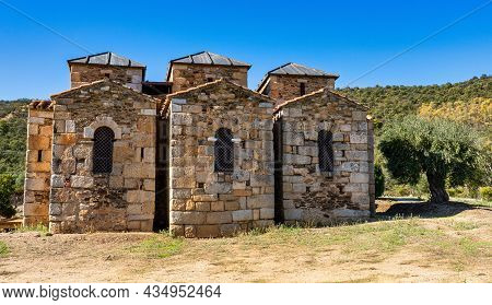 Mozarabic Basilica Of Santa Lucia Del Trampal In Alcuescar, Province Of Caceres, Tourism In Extremad
