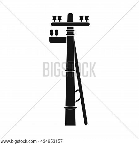 Vector Illustration Of Pillar And Electrical Symbol. Web Element Of Pillar And Wooden Stock Symbol F