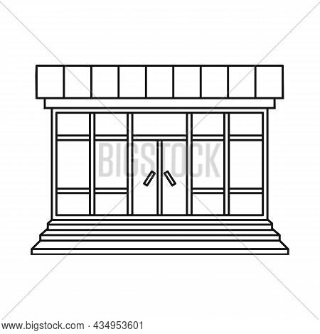 Isolated Object Of Store And Market Sign. Collection Of Store And Mini Stock Vector Illustration.