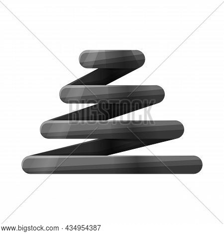 Vector Illustration Of Coil And Spiral Sign. Graphic Of Coil And Metal Stock Symbol For Web.