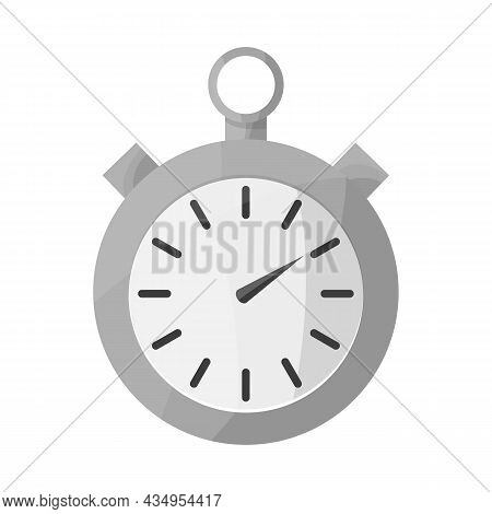 Vector Illustration Of Stopwatch And Clock Symbol. Web Element Of Stopwatch And Circle Vector Icon F