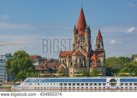 1 June 2021 Vienna, Austria - Saint Francis Of Assisi Church - Franz Von Assisi-kirche (kaiser Franz