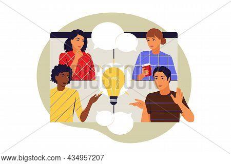 Collaboration Concept. Symbol Of Teamwork, Cooperation, Partnership. Vector Illustration. Flat.