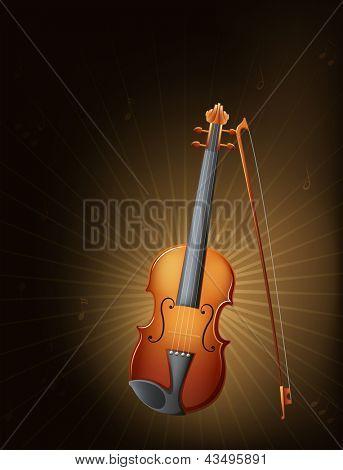 Illustration of a string instrument