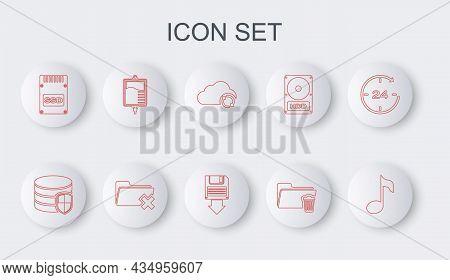 Set Line Music Note, Tone, Database Protection, Cloud Sync Refresh, Delete Folder, Ssd Card, Iv Bag,