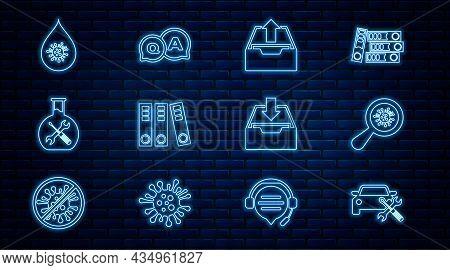 Set Line Car Service, Microorganisms Under Magnifier, Upload Inbox, Office Folders, Bioengineering,