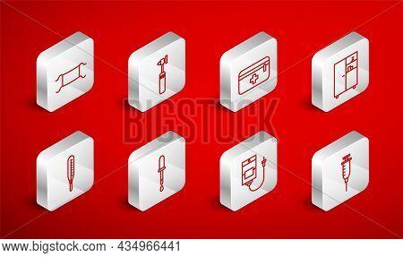 Set Line Syringe, Medical Otoscope Tool, First Aid Kit, Medicine Cabinet, Iv Bag, Protective Mask, P