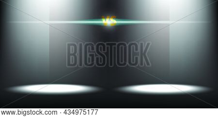 Illustration Background For Championships Or Contests To Find The Winner With Beams Shining From Abo