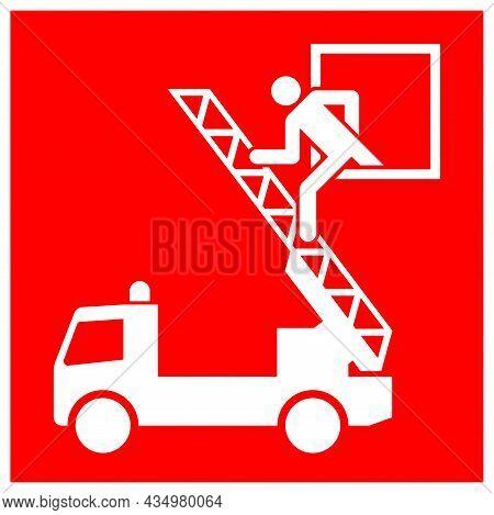 Rescue Windows Symbol Sign, Vector Illustration, Isolate On White Background Label. Eps10